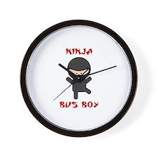 Ninja Bus Boy Wall Clock