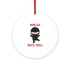 Ninja Bus Boy Ornament (Round)