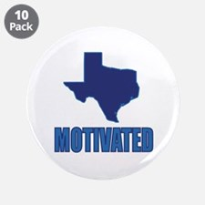"Motivated Texas Democrat 3.5"" Button (10 Pack"
