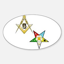Cool Order of eastern star Sticker (Oval)