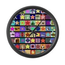 Collage Large Wall Clock