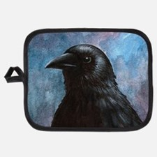 Bird 59 crow raven Potholder
