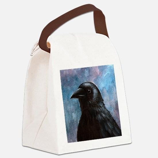 Bird 59 crow raven Canvas Lunch Bag