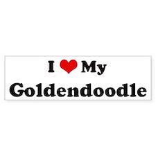 I Love Goldendoodle Bumper Bumper Sticker