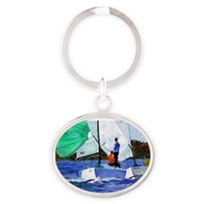 Cute Lakes Oval Keychain