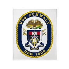 Uss Zumwalt Ddg-1000 Throw Blanket