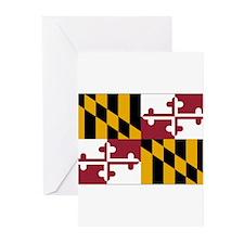Maryland Flag Greeting Cards