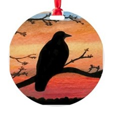Bird 46 crow raven Ornament