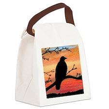 Bird 46 crow raven Canvas Lunch Bag
