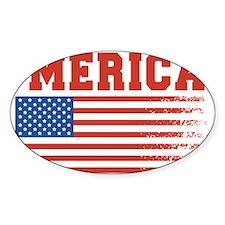 Merica Graffiti Flag 4th Of July Decal