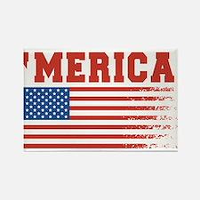 Merica Graffiti Flag 4th Of July Magnets