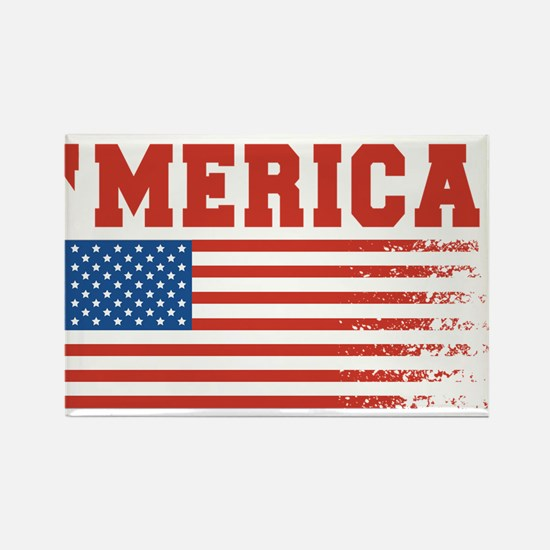 Merica Graffiti Flag 4th Of July Magnets