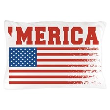 Merica Graffiti Flag 4th Of July Pillow Case