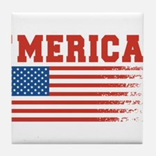 Merica Graffiti Flag 4th Of July Tile Coaster