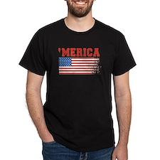 Merica Graffiti Flag 4th Of July T-Shirt