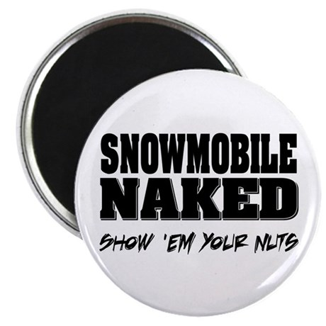 Snowmobile Naked Magnet