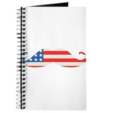 4th of July USA Flag Moustache Journal