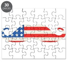 4th of July USA Flag Moustache Puzzle