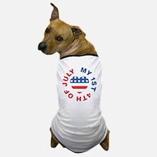 My 1st 4th Of July America Flag Heart Dog T-Shirt