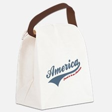 America Proud To Be American 4th of July Canvas Lu