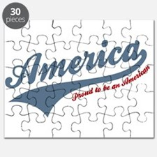 America Proud To Be American 4th of July Puzzle