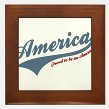 America Proud To Be American 4th of July Framed Ti
