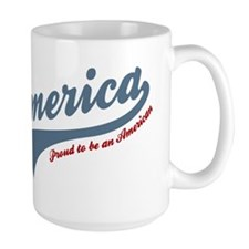 America Proud To Be American 4th of July Mugs