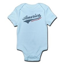 America Proud To Be American 4th of July Body Suit