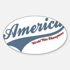 America World War Champions 4th of July Decal