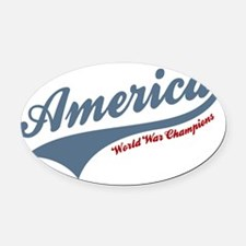 America World War Champions 4th of July Oval Car M