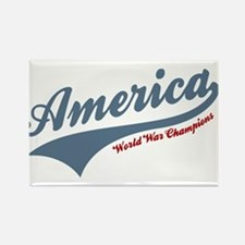 America World War Champions 4th of July Magnets
