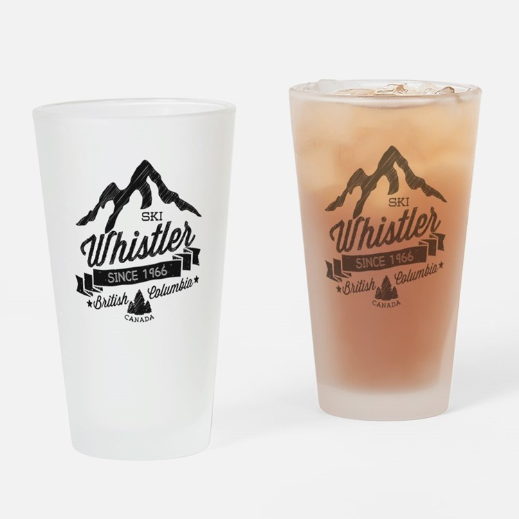 Whistler Mountain Vintage Drinking Glass