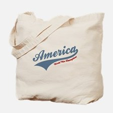 America World War Champions 4th of July Tote Bag