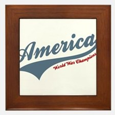 America World War Champions 4th of July Framed Til