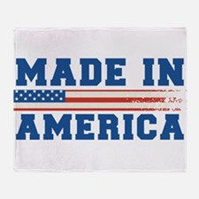 Made In America 4th of July Throw Blanket