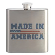 Made In America 4th of July Flask