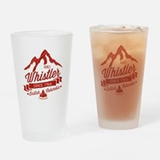 Whistler Mountain Vintage Drinking Glass