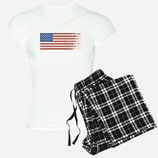 American Flag Graffiti 4th of July Pajamas