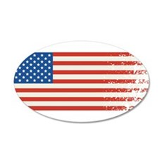American Flag Graffiti 4th of July Wall Decal