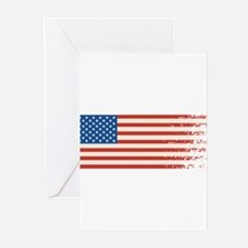 American Flag Graffiti 4th of July Greeting Cards