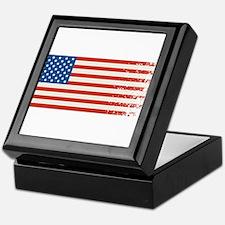 American Flag Graffiti 4th of July Keepsake Box