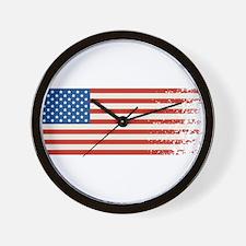 American Flag Graffiti 4th of July Wall Clock