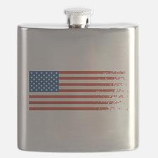 American Flag Graffiti 4th of July Flask
