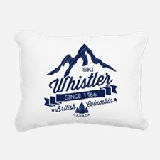Whistler Mountain Vintag Rectangular Canvas Pillow