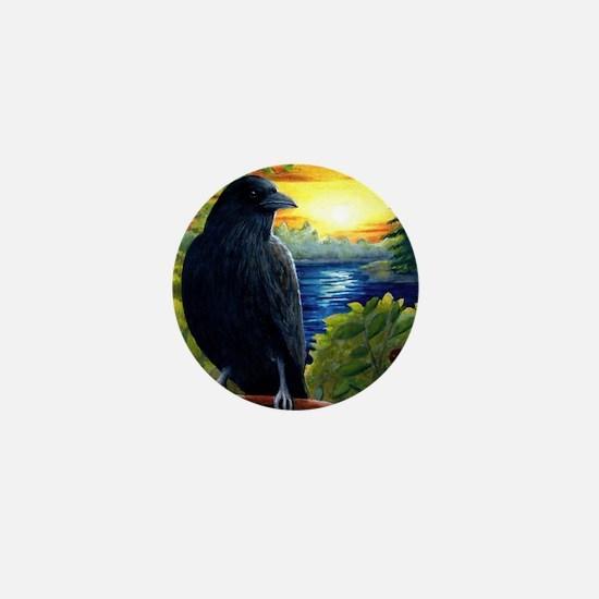Bird 63 crow raven Mini Button
