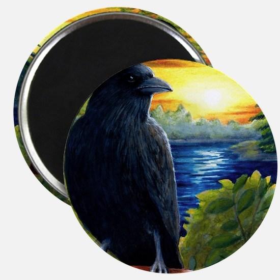 Bird 63 crow raven Magnet