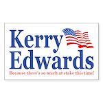 John Kerry / John Edwards Sticker (Rect.)