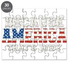 Because America, Thats Why 4th of July Puzzle