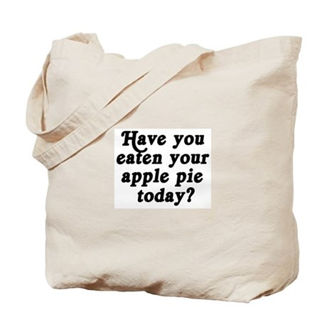 apple pie today Tote Bag