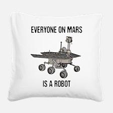 Mars Census Square Canvas Pillow